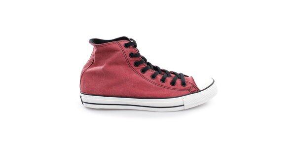 Červené vintage plátěné boty Converse