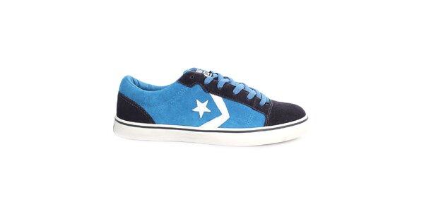 Modré tenisky s černými a bílými prvky Converse
