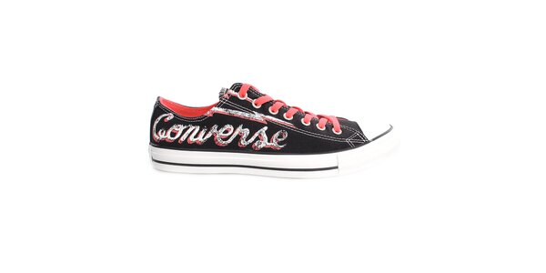 Černé tenisky s nápisem Converse
