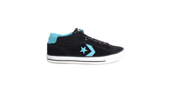 Černé tenisky s modrými detaily Converse