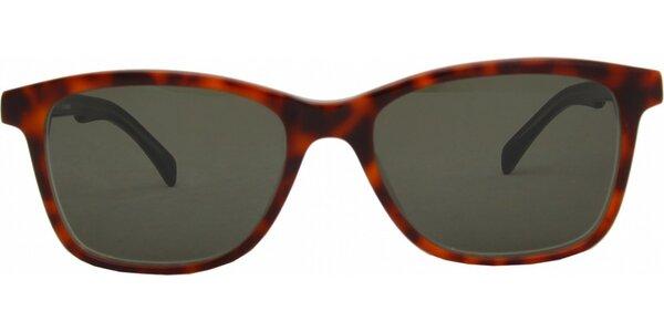 Dámské červené žíhané brýle Jil Sander