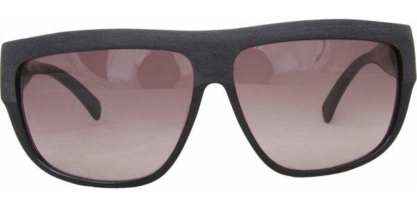 Dámské černé retro brýle s narůžovělými sklíčky Jil Sander