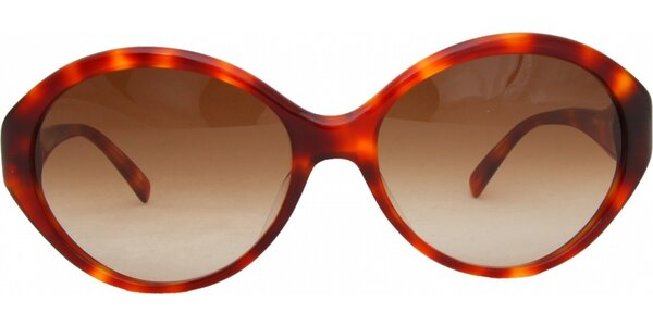 Dámské rudé žíhané brýle Jil Sander