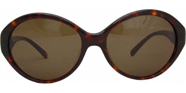 Dámské hnědé žíhané brýle Jil Sander