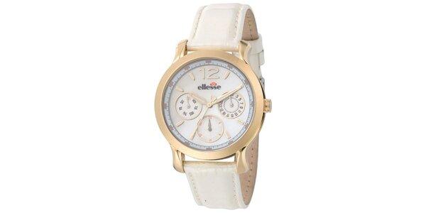 Dámské hodinky s bílým řemínkem Ellesse
