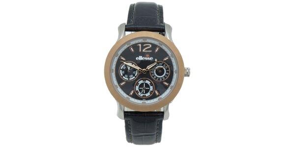 Dámské hodinky s černým řemínkem Ellesse