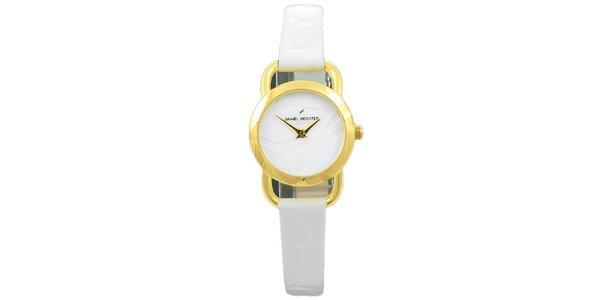 Dámské bílé hodinky bez indexů Daniel Hechter