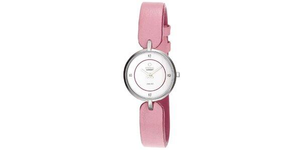 Dámské hodinky s růžovým řemínkem Obaku