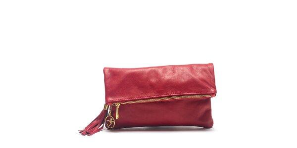 Dámská červená kožená kabelka do ruky Carla Ferreri