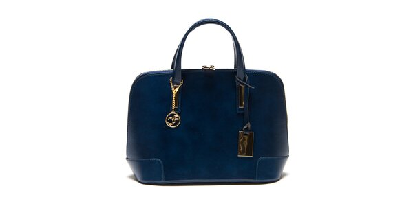 Dámská modrá kufříková kabelka Carla Ferreri