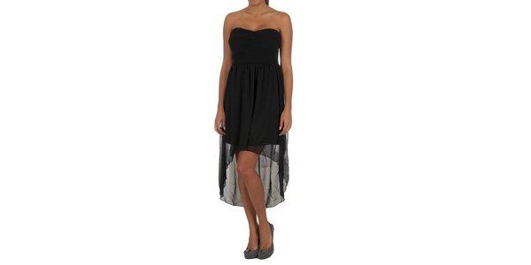 Dámské černé šaty s transparentní sukní Vila Clothes