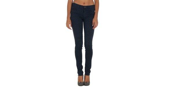Dámské modré kalhoty s leopardím vzorem Vila Clothes