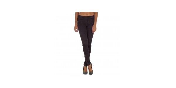 Dámské fialové kalhoty s leopardím vzorem Vila Clothes
