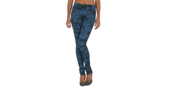 Dámské modré vzorované kalhoty Vila Clothes