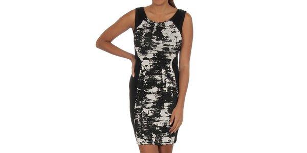 Dámské černé šaty se vzorem Vila Clothes