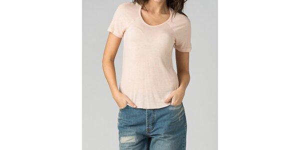 Dámské světle růžové tričko By Zoé
