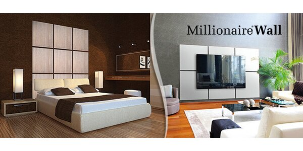 4 designové panely Millionaire® Wall