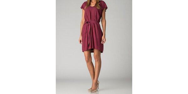 Dámské vínové šaty By Zoé