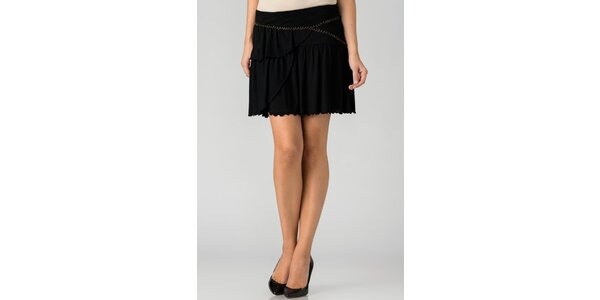 Dámská černá mini sukně By Zoé s volány