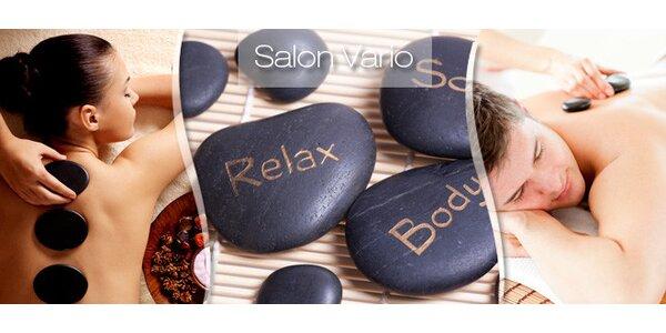Prohřátí a relax při masáži lávovými kameny