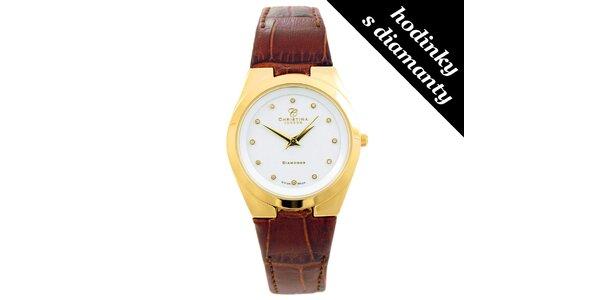 Dámské hodinky s diamantovými indexy Christina London