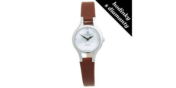 Dámské analogové hodinky s diamanty Christina London