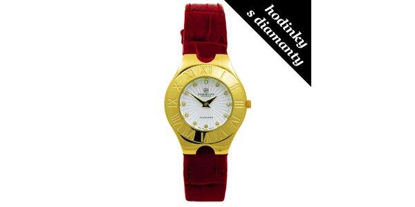 Dámské pozlacené hodinky s diamanty Christina London