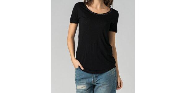 Dámské černé tričko By Zoé