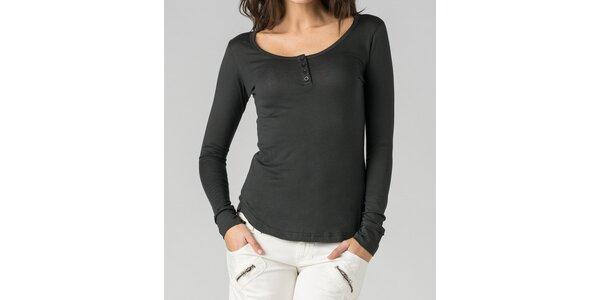 Dámské ocelově šedé tričko By Zoé