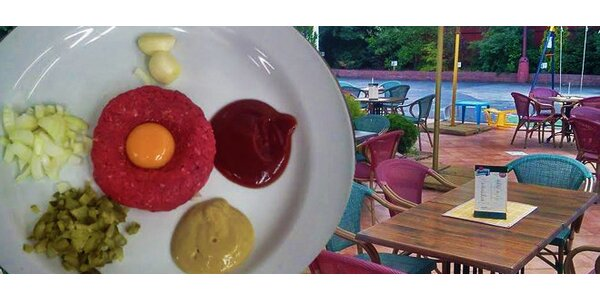 200g tataráček s 8 topinkami v restauraci Granada