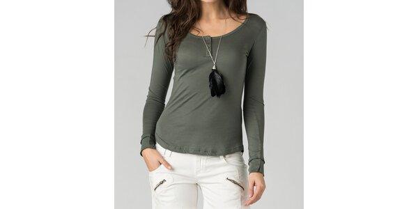 Dámské olivově zelené tričko By Zoé