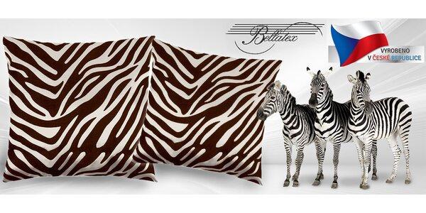 Dva dekorační polštářky v trendy designu