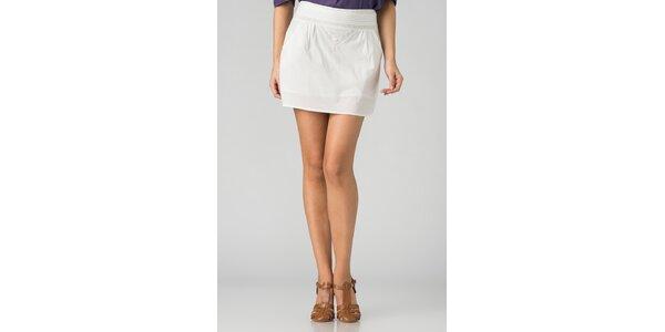 Dámská bílá mini sukně By Zoé