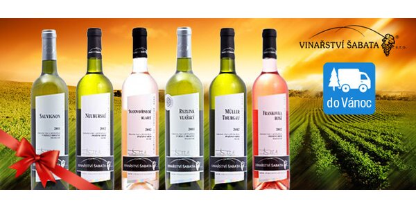 6 vín z rodinného vinařství Šabata