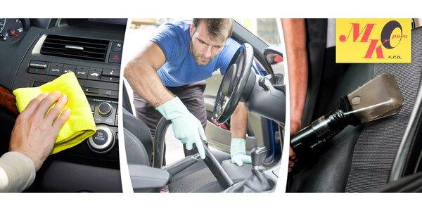Kompletní vyčištění interiéru vozu