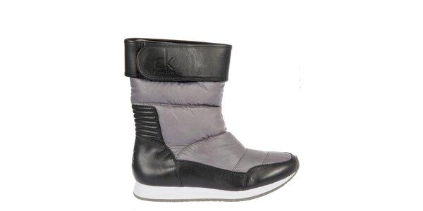 Dámské černo-šedé sněhule Calvin Klein