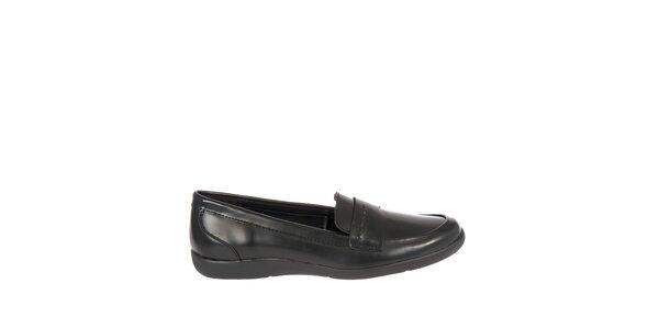 Dámské černé kožené mokasíny Calvin Klein