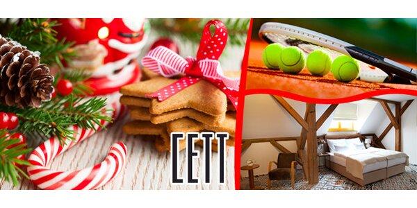 Adventní víkend s krásným ubytování v unikátním středisku CETT v podzámčí