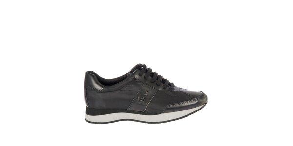 Dámské černé kožené tenisky Calvin Klein