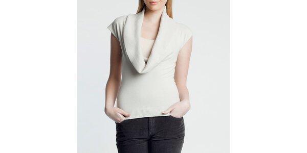 Dámský béžový svetřík s krátkým rukávem Nero su Bianco