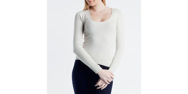 Dámský smetanový svetr s kulatým výstřihem Nero su Bianco