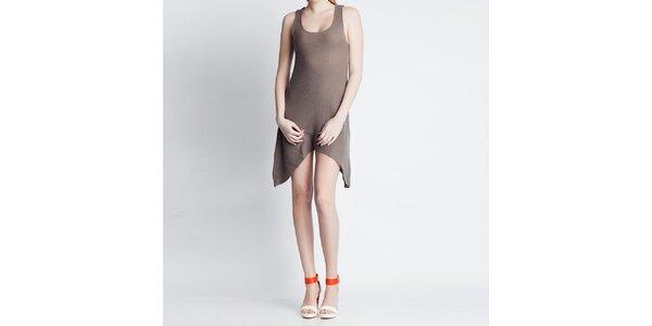 Dámské asymetrické šaty Nero su Bianco