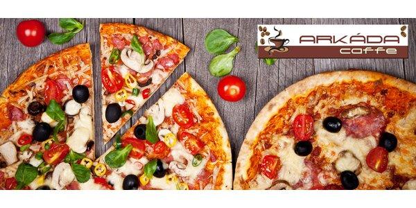 Dvě pizzy dle vlastního výběru v Arkáda Caffe