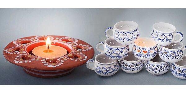 Keramický čajový svícen