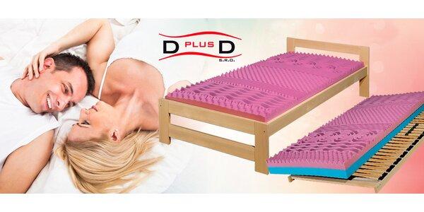 Smrkové postele D plus D – včetně roštů a matrací