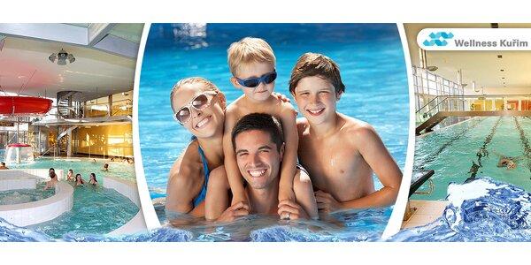 Vstupy do aquaparku Kuřim pro dva či celou rodinu
