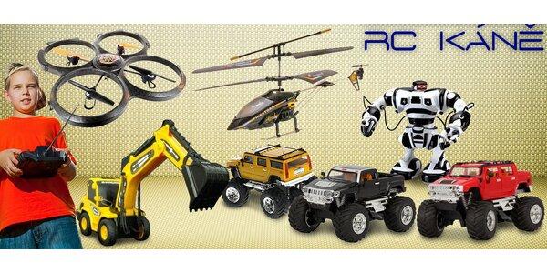 RC modely – vrtulník, auto, robot a další!