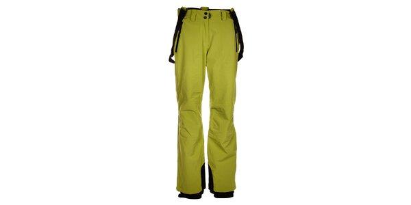 Dámské světle zelené lyžařské kalhoty Trimm