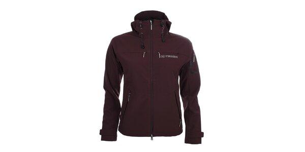 Dámská tmavě fialová softshellová bunda s kapucí Trimm