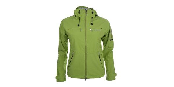 Dámská zelená softshellová bunda s kapucí Trimm